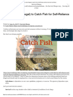 9 Ways (Some Illegal) to Catch Fish for Self-Reliance & Survival