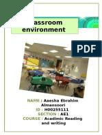 classroom enviroment