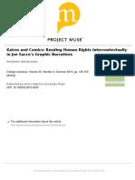 Kairos and Comics- Reading Human Rights Intercontextually in Joe Sacco's Graphic Narratives