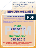 Avisos de Reinscripcion 2013-2