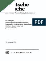 Deutsche Sprache Zeitschrift Für Theorie, Praxis, Dokumentation
