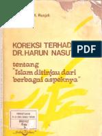 Koreksi Terhadap Dr. Harun Nasution