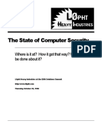L0pht 1998 - The State of Computer Security