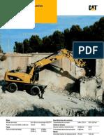 Excavadoras de Ruedas Specalog m322d Espanol Reducido