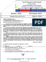 Examen Et Corrige Anglais 3ASL T1 2015