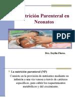 Nutricion Parenteral en El Neonato