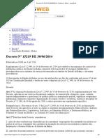 Decreto Nº 15219 de 30-06-2014 - Estadual - Bahia - ServTerceirizados