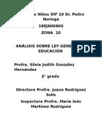 Analisis Sobre Ley Gral. Silvia Judith González Hdz.