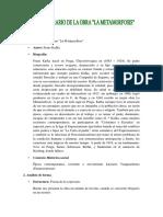 119415703 Analisis Literario La Obra La Metamorfosis