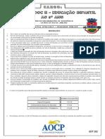 Seropédica - 2013 - Professor Doc II - Educação Infantil