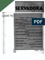 Revista Conservadora No. 39 Dic. 1963