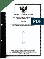 Peraturan Walikota Sungai Penuh No 9 Tahun 2012