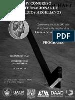 Programa IV Congreso Interacional de Estudios Hegelianos Mesas