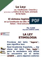 7ma. La Ley. Sistema Legislativo