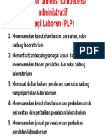 Indikator Dimensi Kompetensi Administratif Laboran