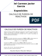 Calculo de Pureza de Reactivos