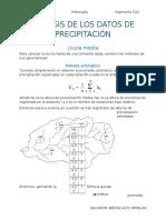 Análisis de Los Datos de Precipitación