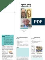Triptico Piaget, Vigotsky y Bruner