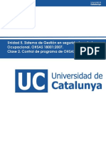 Control de Programa de OHSAS 18001