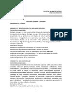 Programa Medicina Biologia Ingreso2015