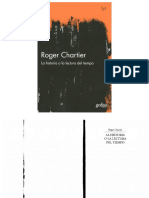Roger Chartier. La Historia o La Lectura Del Tiempo