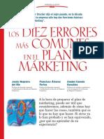Los Diez Errores Mas Comunes en El Plan de Marketing