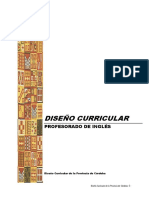 Diseño Curricular Profesorado Inglés 2013