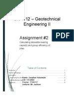 CIV4112 - Assignment 2