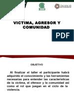 VICTIMA AGRESOR COMUNIDAD