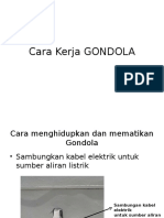 Prinsip Kerja Gondola