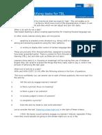 Criteria for Identifying Tasks for TBL