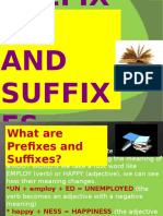 Prefixes and Suffixes (4)