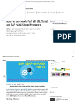 Abap on Sap Hana. Part Vii