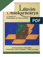 Lilavati of Bhaskaracharya