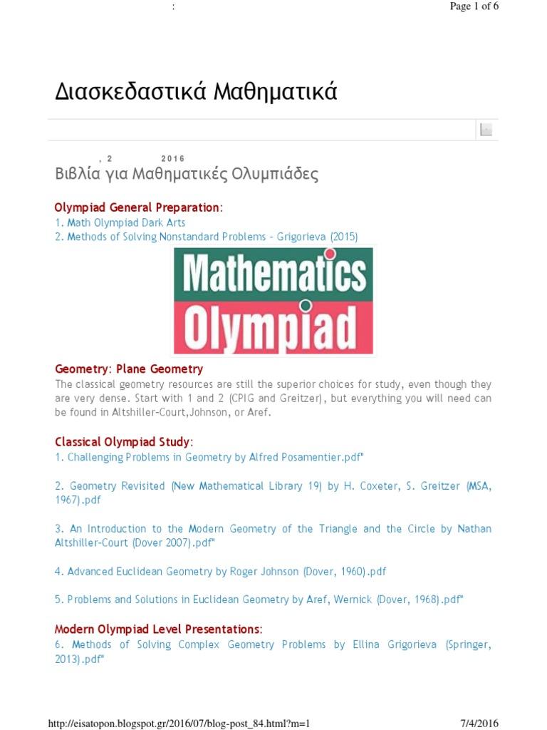 Olympiad General Preparation