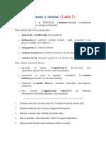 Frases y Textos LLATÍ 1