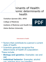 1.Socio Economic Determinants of Health