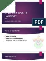 Rencana Usaha Laundry