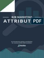 B2B Marketing Attribution 101 eBook
