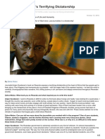 Life Under Rwandas Terrifying Dictatorship