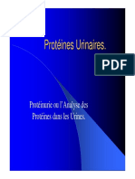 Proteines Urinaires 2006-2007