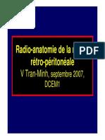 Sémiologie Radio-Anatomie de La Région Rétro-Péritonéale