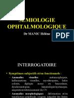 Sémiologie Ophtalmique