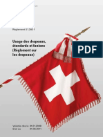 Usage Des Drapeaux, Étendards Et Fanions (Règlement Sur Les Drapeaux 51.340 f) - Armée Suisse