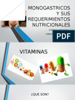 Monogastricos y Sus Requerimientos Nutricionales