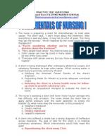 Fundamentals of Nursing I
