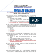 Fundamentals of Nursing II