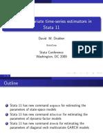 New multivariate time-series estimators in Stata 11