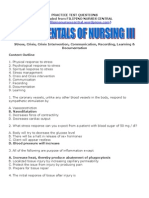 Fundamentals of Nursing III
