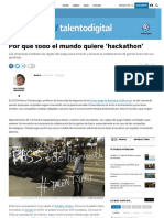 Todo El Mundo Quiere Organizar Hackathons - El País (28.10.2016)